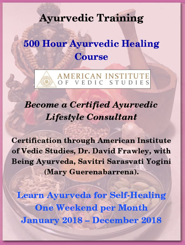 Ayurvedic Training - 500 Hour Ayurvedic Healing Course